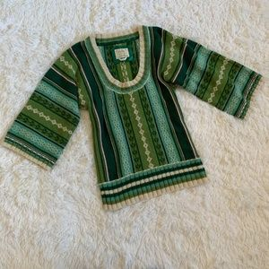 Old Navy Green XS Fair Isle Scoop Neck Sweater